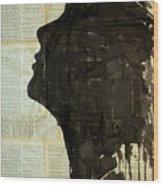The Female Silhouette . Wood Print