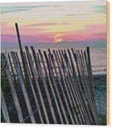 The Fence II  Wood Print