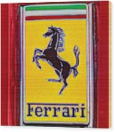 The Ferrari Logo Wood Print