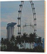 The Ferris Wheel 3 Wood Print