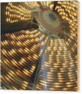 The Ferris Wheel At Night Wood Print