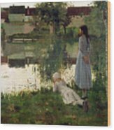 The Ferry Wood Print by William Stott