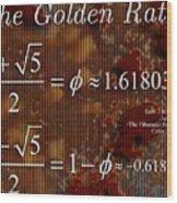 The Fibonacci Equation Catus 1 No. 1 H  Wood Print