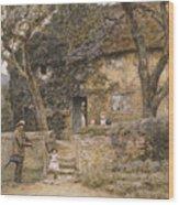 The Fiddler Wood Print