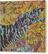 The Fierce Eel Wood Print