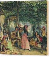 The Fiesta At Granada Wood Print