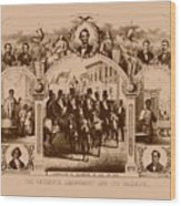 The Fifteenth Amendment And Its Results Wood Print