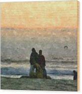 The Final Sunset Wood Print
