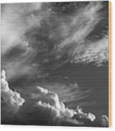 The Fine Art Of Clouds Wood Print