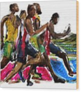 The Finish Line Wood Print by Russell Pierce