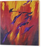 The Fire Of Life Wood Print