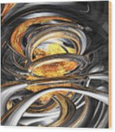 The Fire Within Abstract Wood Print