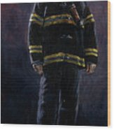 The Firefighter  Wood Print
