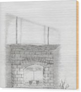 The Fireplace Wood Print