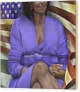 The First Lady-american Pride Wood Print