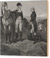 The First Meeting Of George Washington And Alexander Hamilton Wood Print