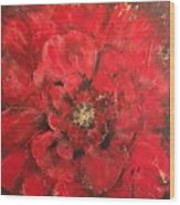 The First Red Poppie. Wood Print