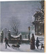 The First Snow, 1877 Wood Print
