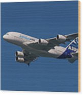 The Firts Airbus A380 Wood Print
