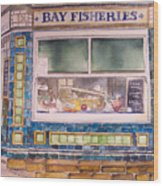 The Fish And Chip Shop Wood Print