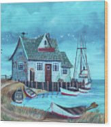 The Fish House Wood Print