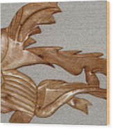 The Fish Skeleton Wood Print