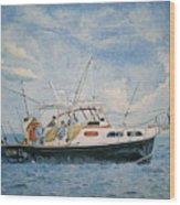 The Fishing Charter - Cape Cod Bay Wood Print