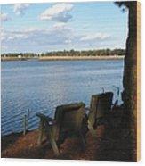 The Fishing Spot Wood Print