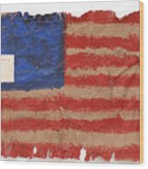 The Flag Wood Print