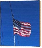 The Flag Of Usa  Wood Print