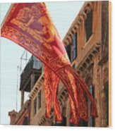 The Flag Of Venice Wood Print