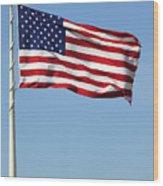 The Flag Wood Print