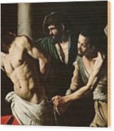 The Flagellation Of Christ Wood Print by Caravaggio