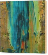The Flair Of The Flame Abstract Wood Print