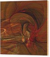 The Flame Wood Print