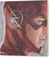 The Flash / Grant Gustin Wood Print