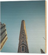 The Flatiron Building Towering Over Manhattan Wood Print