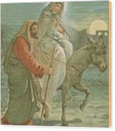 The Flight Into Egypt Wood Print by John Lawson