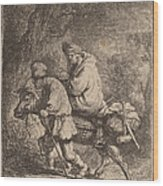 The Flight Into Egypt: Small Wood Print