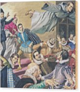 The Flight Of Father Dominic Wood Print