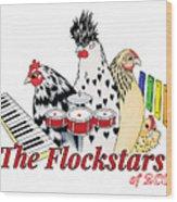 The Flockstars Wood Print by Sarah Rosedahl