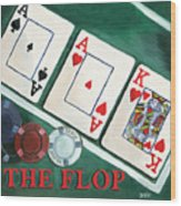 The Flop Wood Print