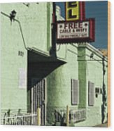 The Flores Motel Wood Print