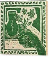 The Florist Wood Print by Caroline Street