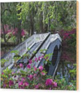 The Flower Bridge Wood Print