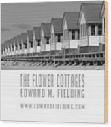 The Flower Cottages By Edward M. Fielding Wood Print