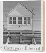 The Flower Cottages Trio Poster Wood Print