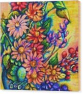 The Flower Dance Wood Print