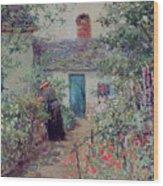 The Flower Garden Wood Print