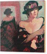 The Flower Hat Wood Print